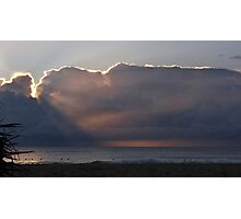 Sunrise and surfers Photographic Print