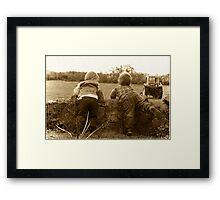 Farm boys Framed Print