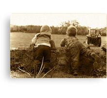 Farm boys Canvas Print