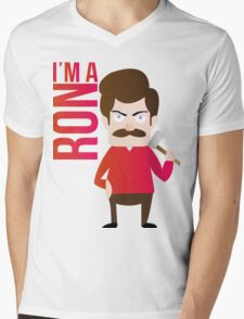 im a RON Mens V-Neck T-Shirt