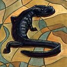 107 - CANADIAN NORTHWESTERN SALAMANDER - DAVE EDWARDS - WATERCOLOUR - 2003 by BLYTHART