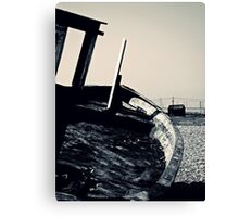 The Boat and The Shack Canvas Print
