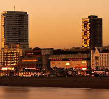 Brighton skyline at sundown by David Asch