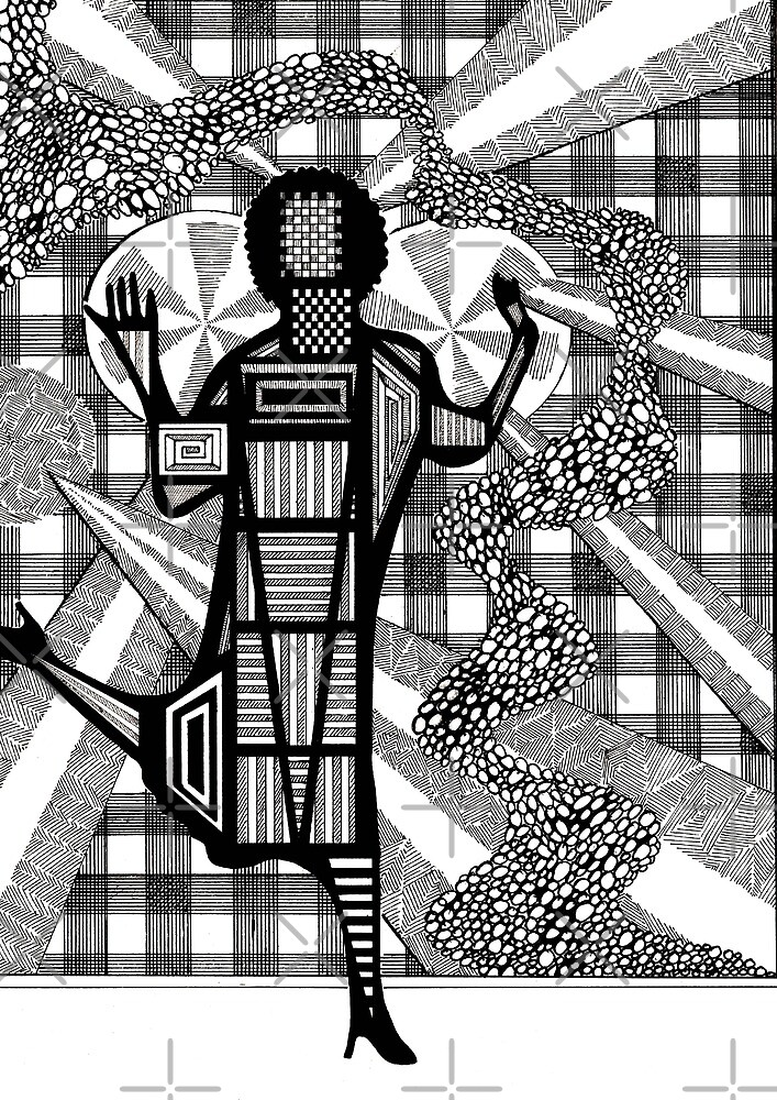 157 - FLOWING PEBBLES - DAVE EDWARDS - INK - 1988 by BLYTHART