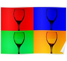Warhol Style Wine Poster