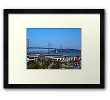 Bay Bridge AT&T Park Framed Print
