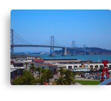 Bay Bridge AT&T Park Canvas Print