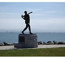 Willie McCovey Statue Photographic Print
