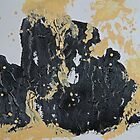 Rita-T, Abstract Painting, Black and Cream by VoxOrpheus