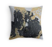 Rita-T, Abstract Painting, Black and Cream Throw Pillow