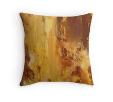 Rita-T, Abstract Painting, Brick Red, Orange, Yellow Throw Pillow