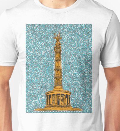 Siegessäule Drawing Meditation - Blue Unisex T-Shirt