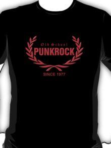 Old School PUNKROCK Since 1977 (in red) T-Shirt