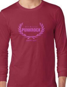 Girly: Old School PUNKROCK Since 1977 (in Pink) Long Sleeve T-Shirt