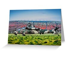 Rooivalk Helicopter and Soccer City Greeting Card