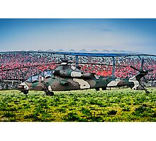 Rooivalk Helicopter and Soccer City Photographic Print