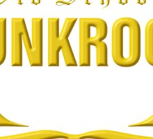 Old School PUNKROCK Since 1977 (in Gold) Sticker