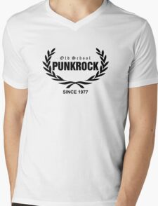 Old School PUNKROCK Since 1977 (in Black) Mens V-Neck T-Shirt