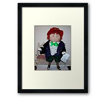 """Patti"", My Red Hat Sociey Little Lady Framed Print"