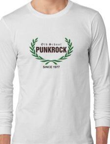 Old School PUNKROCK Since 1977 (green l.w.) Long Sleeve T-Shirt