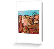 tree in the rock Greeting Card