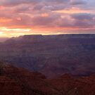 Sunset in the Grand Canyon National Park. by mikepemberton