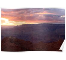 Sunset in the Grand Canyon National Park. Poster