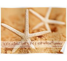 Starfish with Swedish Proverb Poster
