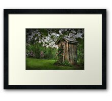 Fragrant Outhouse Framed Print
