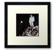On a paper planet Framed Print