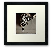 Paper over the man Framed Print