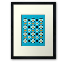 Fishbowl and a Cat Pattern Framed Print