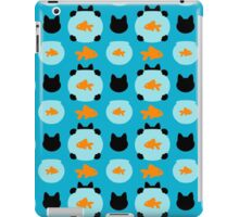 Fishbowl and a Cat Pattern iPad Case/Skin