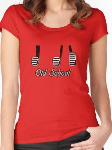 Old School Pedals Women's Fitted Scoop T-Shirt