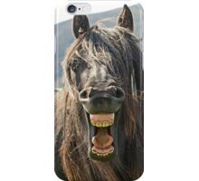 """The """"Laughing"""" Horse iPhone Case/Skin"""
