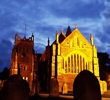 St Mary, Ottery St Mary, by night by Hannah-C