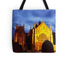 St Mary, Ottery St Mary, by night Tote Bag