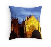 St Mary, Ottery St Mary, by night Throw Pillow