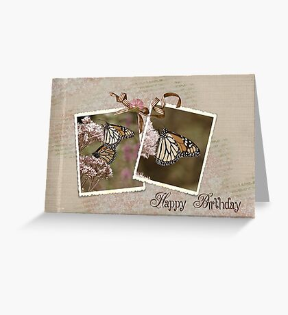 Flutter By Happiness Greeting Card