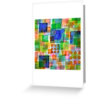 Playful Squares Greeting Card