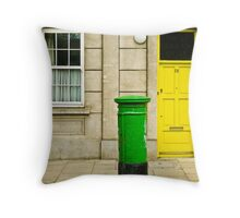 Green post in Dublin Throw Pillow