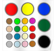 Colored web buttons Poster