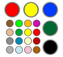 Colored web buttons Photographic Print
