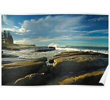Winter Light-Shelly Beach Poster
