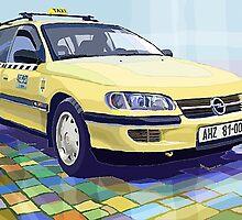 Prague taxi Opel Omega A Caravan by Yuriy Shevchuk