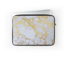 Awesome trendy modern faux gold glitter marble Laptop Sleeve