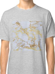Awesome trendy modern faux gold glitter marble Classic T-Shirt