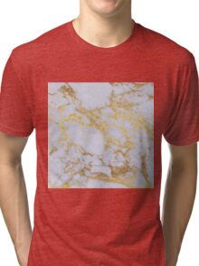 Awesome trendy modern faux gold glitter marble Tri-blend T-Shirt