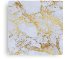 Awesome trendy modern faux gold glitter marble Canvas Print