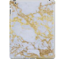 Awesome trendy modern faux gold glitter marble iPad Case/Skin